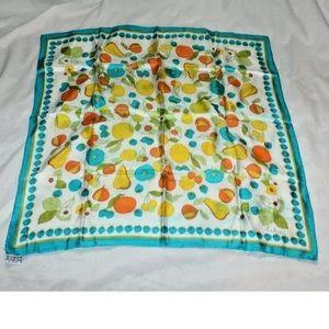 Vintage ECHO Silk Scarf Scarve Mod Turquoise